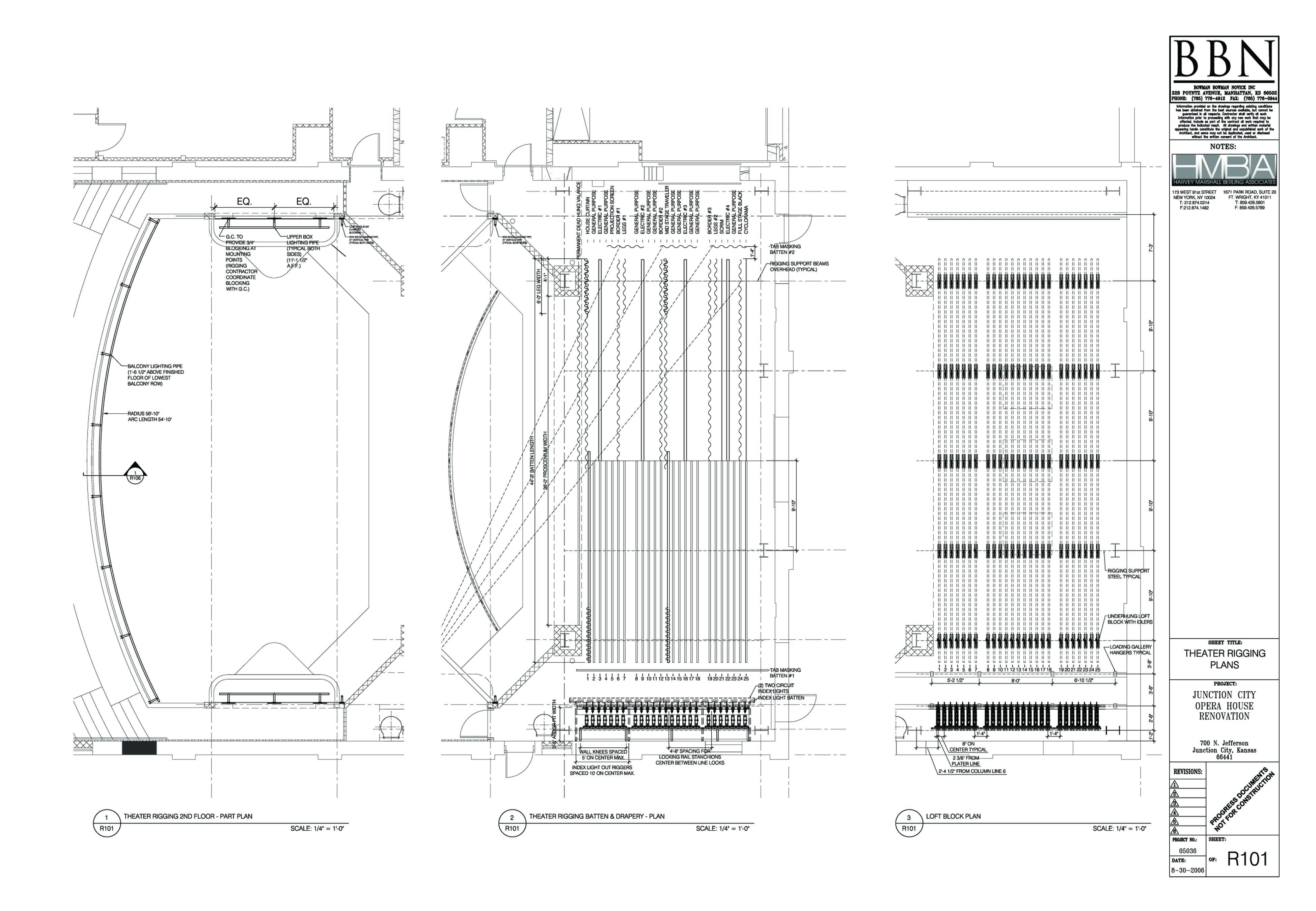 Michael Kraczek Theatre Design Page 4 Lighting Diagram Theater Rigging Plans